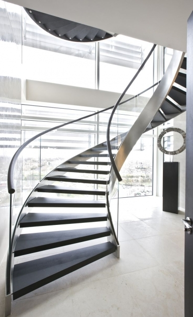 Circular Staircase Design Stunning And Modern For Homes With Black Wooden Staircase Mounted Picture 68