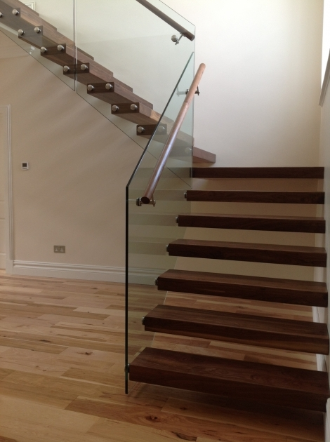 Floating Stair Treads Interior Design Ideas With Brown Color Timber Treads And Glass Balusters Photos 33
