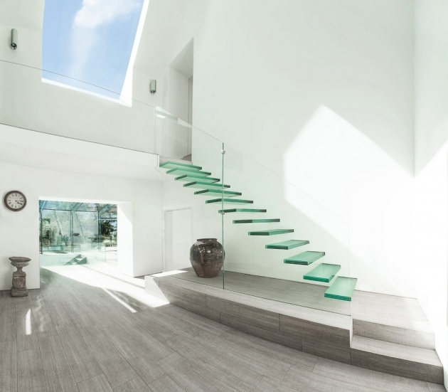 Floating Stair Treads Modern Ideas Pics 95