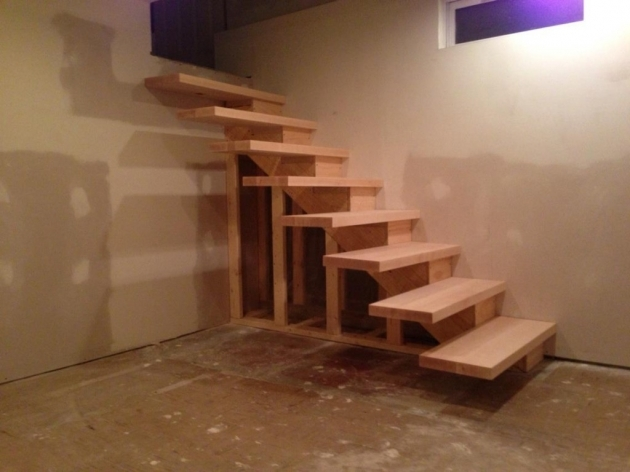 Floating Stair Treads Of Finished Floating Stairs Pic 85