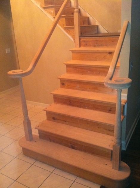 Hardwood Stairs Treads Pine Stair Treads Install Pictures 57