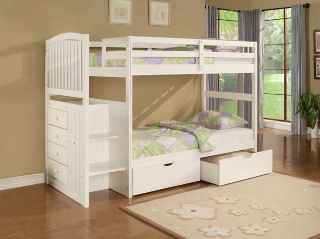 Loft Bed With Stairs Cute Girls Unique Bunk Beds With Stairs White Stained Photos 47