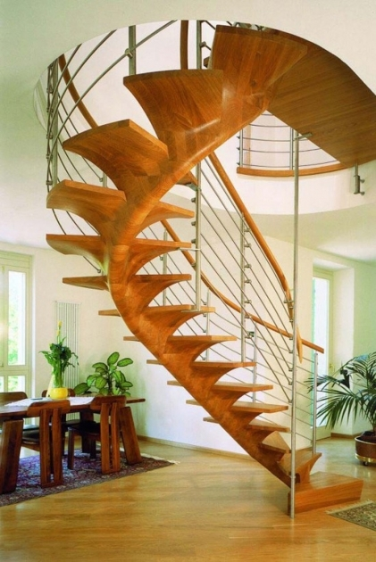 Oak Spiral Staircase Interior Stair Decoration Using Modern Wooden Steel Custom Including Solid Light Oak Wood Handrail Pictures 52