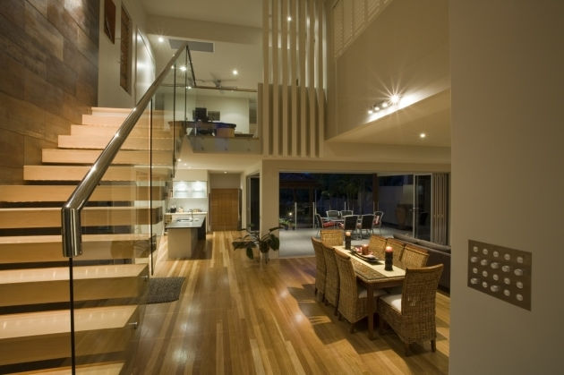 Oak Staircase Ideas With Floating Light Brown Laminated Tread Also Glass Divider Banister Photos 79
