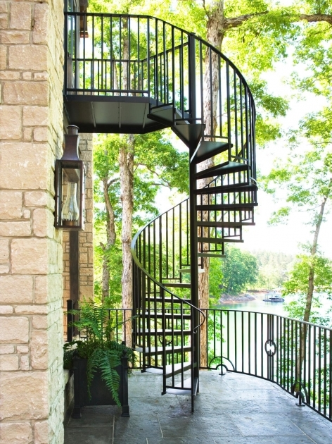Outdoor Spiral Staircases Linda McDougald Exterior Home Design Photos 89
