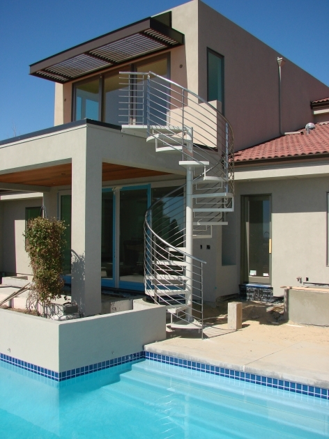 Outdoor Spiral Staircases Modern House Design Pic 26