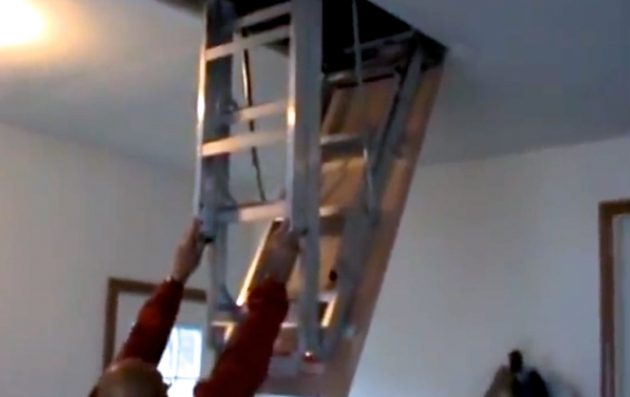 Pull Down Attic Stairs How To Install Pic 56
