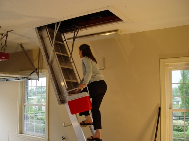 Pull Down Attic Stairs Installation  Pictures 50