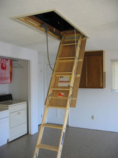 Pull Down Attic Stairs Remodelling Ideas Photos 26