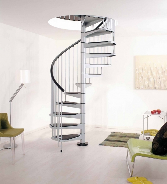 Small Spiral Staircase Dimensions Arke Civik Grey Metal Spiral Stairs Photos 90