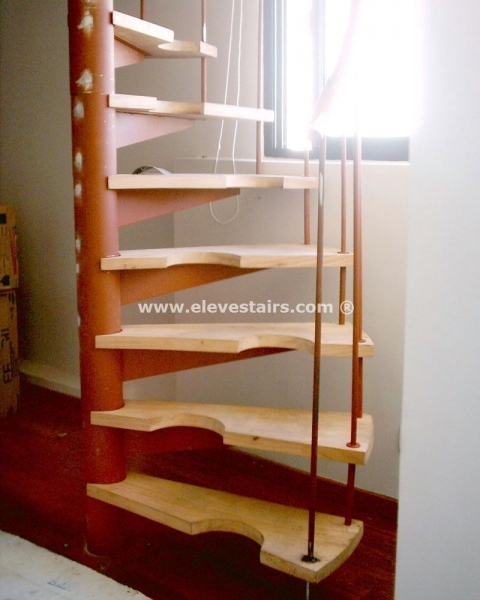 Space Saving Stairs Half Spiral Staircase Hillocks Garrets Attic Picture 75