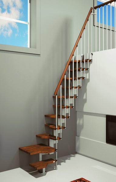 Space Saving Stairs Loft Home MINI Walnut Photos 53
