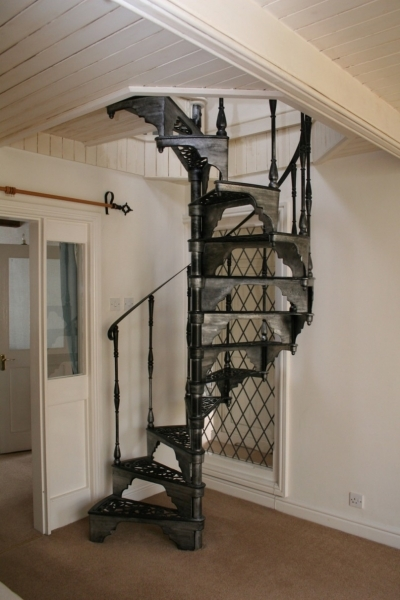 Space Saving Stairs With Vintage Spiral Staircase Using Black Architecture Interior Design Pics 78