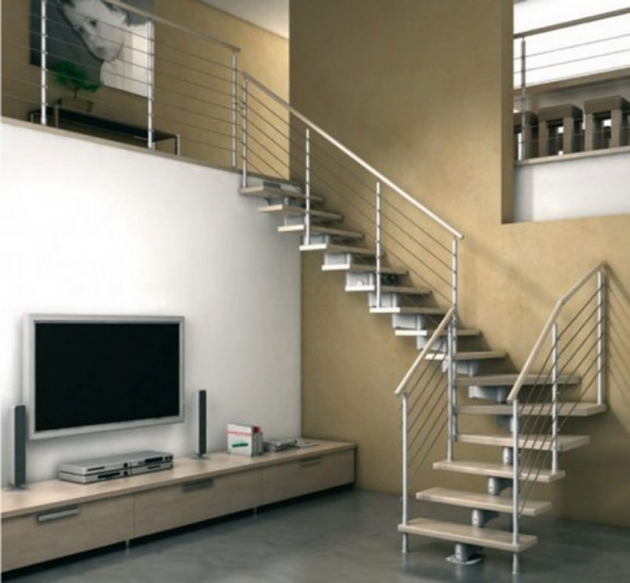 Staircases Designs With Railing Modern Single Steel Framed Staircase Design With Wrought Iron Railing Photo 46