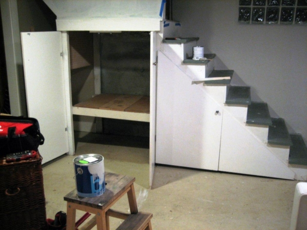 Under Stairs Cupboard Storage Ideas Basement Organization Photo 60
