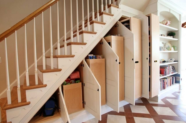 Under Stairs Storage Ideas Furniture And Accessories Varnished Wood Open Under Stairs Images 25
