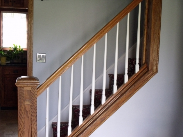 Wood Stair Spindles Railing And Newel Posts For Stairs On Pinterest Pictures 73