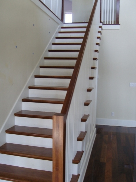 Wood Stair Treads Color Home Interior Ideas Photo 38