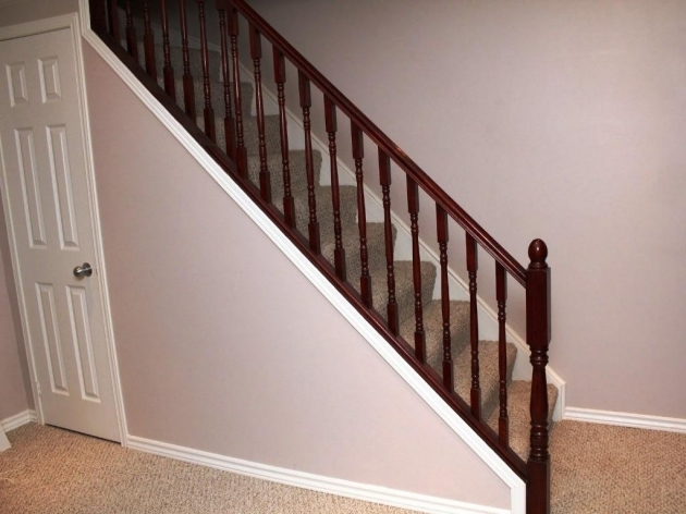 Basement Stairs Railing Basement Stairs With Various Railing Styles Pic 50