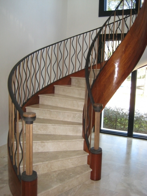 Curved Staircase Railing Classic Iron Decor Classic Iron Decor Image 75