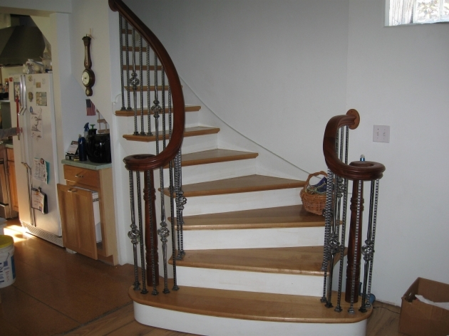 Curved Staircase Railing Design Kellner Millwork Images 88