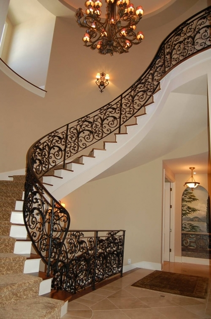 Curved Staircase Railing Ideas On Pinterest Pic 52