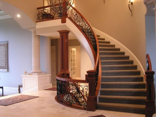 Curved Staircase Railing Newels Railings Balusters Banisters Risers And Treads Stair Pic 88