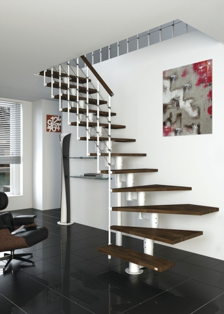 Floating Stair Kits Home Interior Decoration Using Square Black Tile Ceramic Home Flooring Photo 38