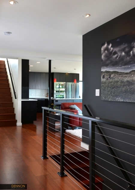 Modern Metal Stair Railings H2D Architecture And Design Innis Arden Stair Photo 83