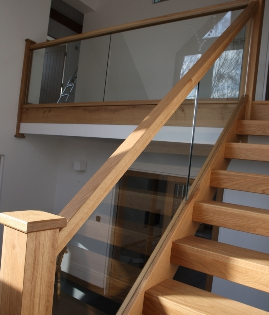 Oak Staircases With Glass Panels Balustrade House Ideas Pics 24