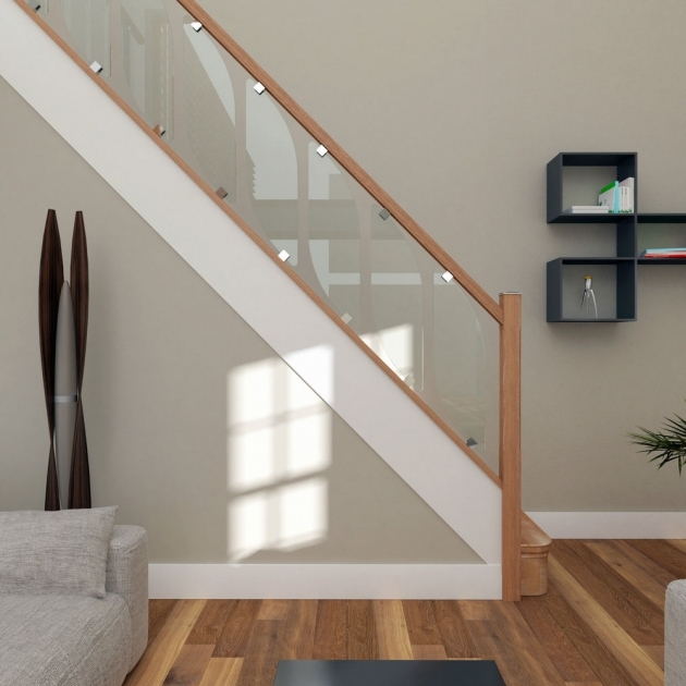 Oak Staircases With Glass Panels Balustrade Kit Image 05