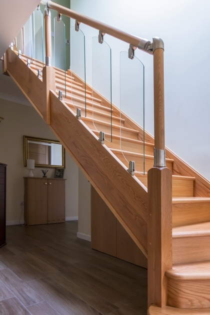Oak Staircases With Glass Panels Bespoke Staircase Design Stair Manufacture And Professional Picture 07