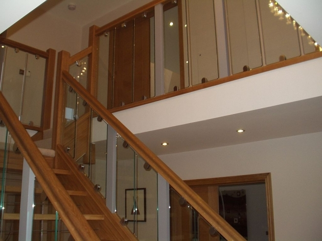 Oak Staircases With Glass Panels Bitteswell Photos 68