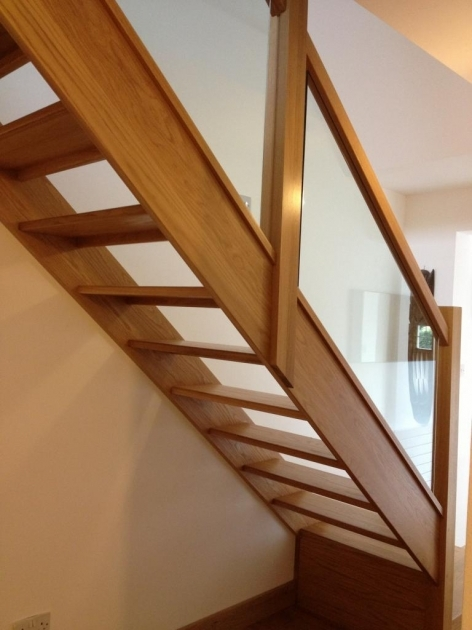 Oak Staircases With Glass Panels Home Interior Stair Decoration Wooden Staircase Balustrade  Image 77