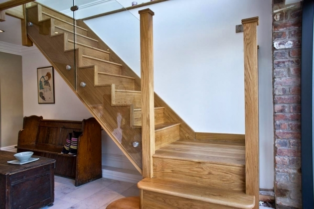 Oak Staircases With Glass Panels Refurbish Design For Your House Pictures 12