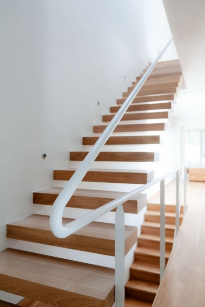 Simple Staircase Design Ideas Decoration With White Metal Banister Handle Staircase Designs And Wooden Steps Photo 70