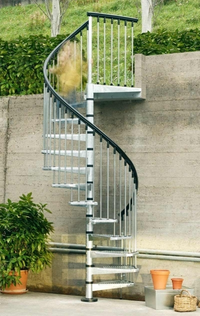 Spiral Staircases Exterior Beautiful Decoration Using Black Exterior Handrail Including Stainless Steel Images 31