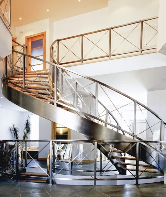 Stainless Steel Railing Designs Staircase Curved Photos 44