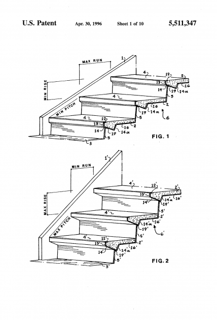 Steel Staircase Dimensions Patent Us5511347 Adjustable Sheet Metal Moulds Pic 60