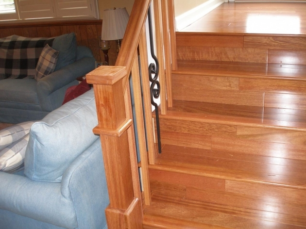 Wooden Staircase Railing Basement Remodel On Pinterest Photo 57