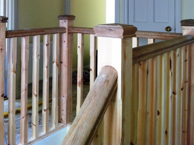 Wooden Staircase Railing Wood Stair Handrail Pic 75
