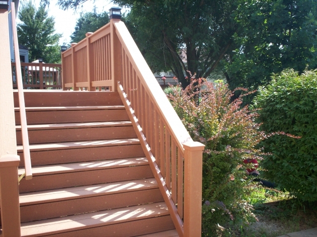Building Stairs For A Deck Steps With Guard Rail And Handrail Image 83