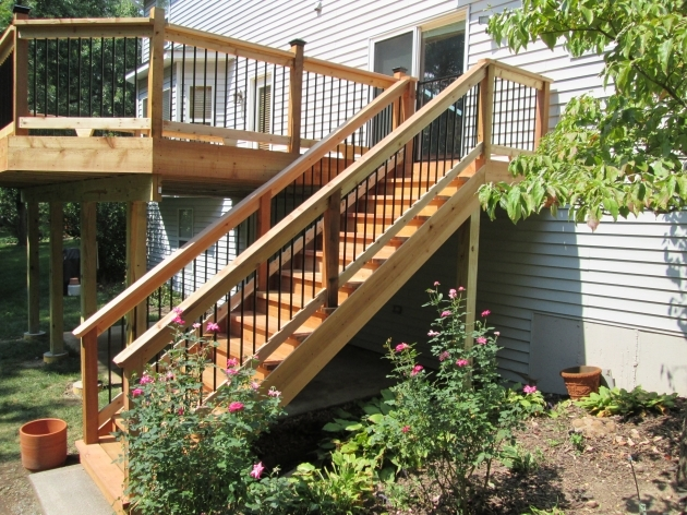 Building Stairs For A Deck Without A Landing St Louis Mo By Archadeck Pictures 75