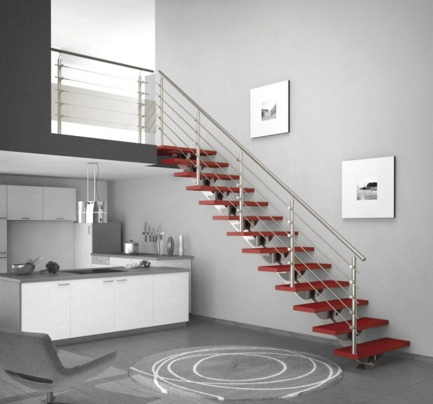 Contemporary Stairs Railing Home Interior Ideas Images 16