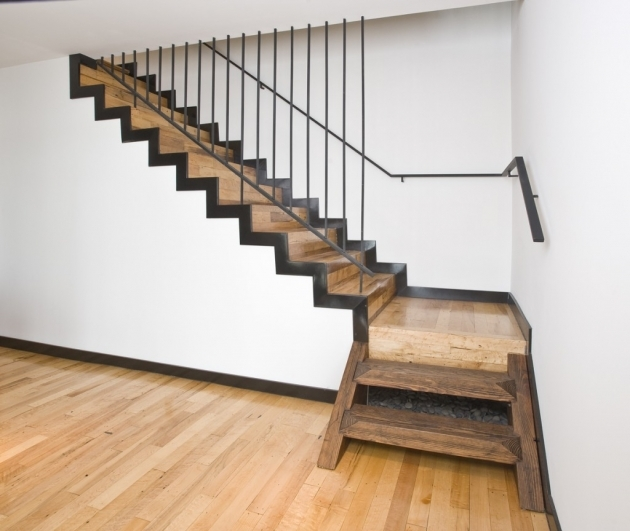 Designs For Stairs With A Landing Striking Half Landing Stair Inspiration With Wooden Stairs Along With Metal Railings Pictures 06