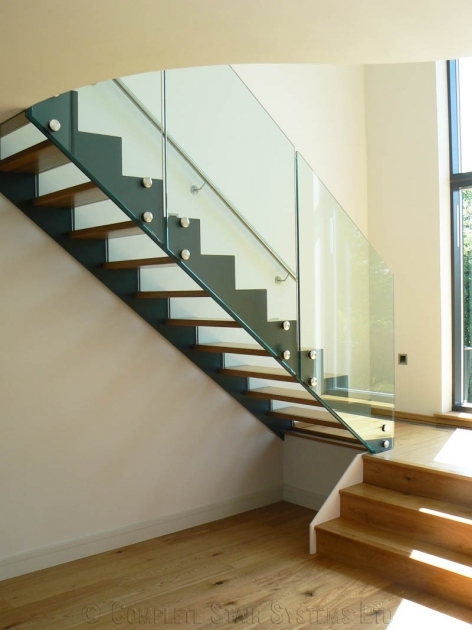 Floating Staircase Kit Decoration Using Clear Glass Staircase Railing Including Glass And Wooden Pics 75