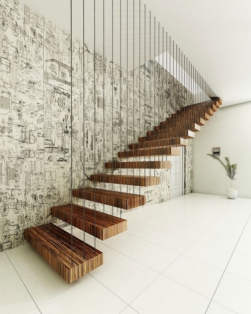 floating Stairs Brackets Contemporary Design Pic 90