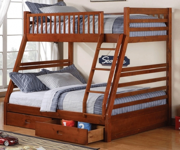 Full Over Full Bunk Beds With Stairs And Drawers Photos 19