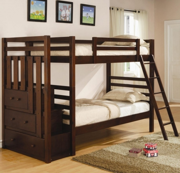 Full Over Full Bunk Beds With Stairs And Trundle Pictures 11