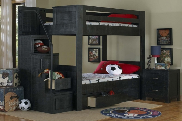Full Over Full Bunk Beds With Stairs Black Ideas Pictures 18